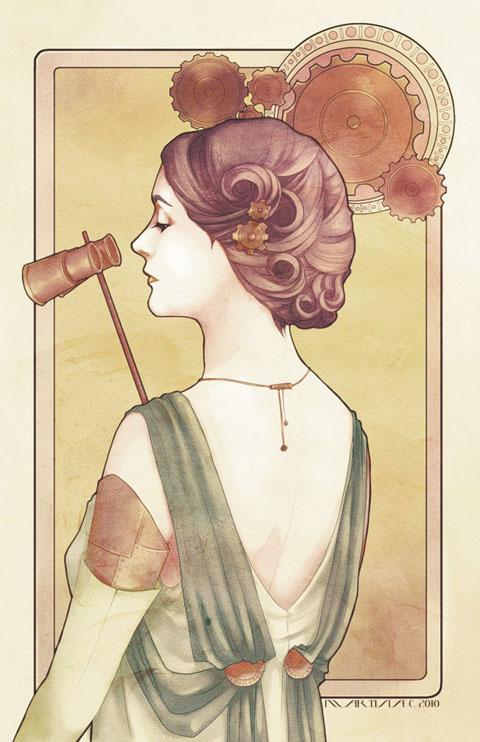 Art Nouveau Poster - steampunk