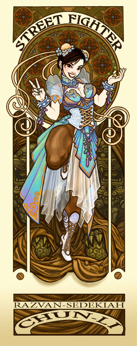 Art Nouveau Poster - not blanka