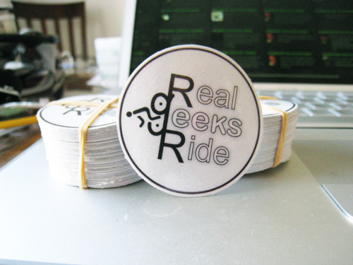 Bicycle bumper stickers real geeks ride