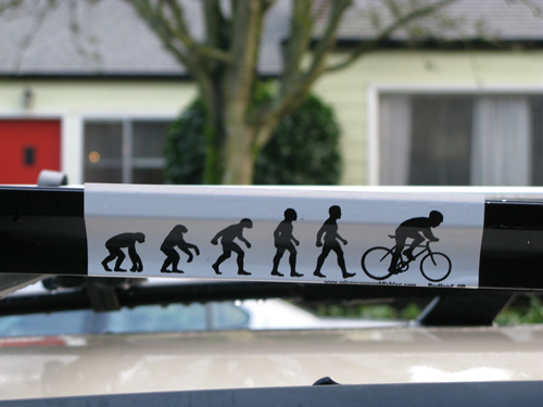 Bicycle Bumper Stickers - Do The Evolution