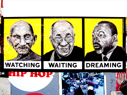 Bicycle Bumper Stickers - Gandhi DL MLKJR