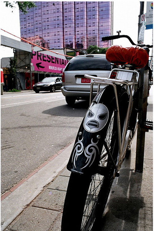 Bicycle Bumper Stickers - Luchador