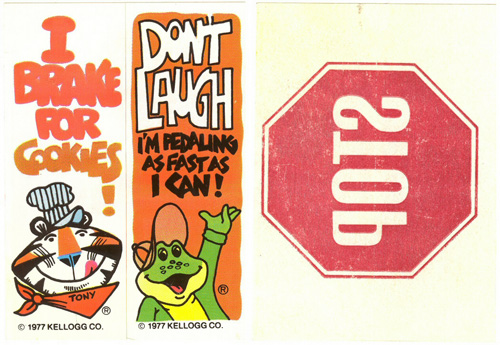 Bicycle Bumper Stickers - Cereal