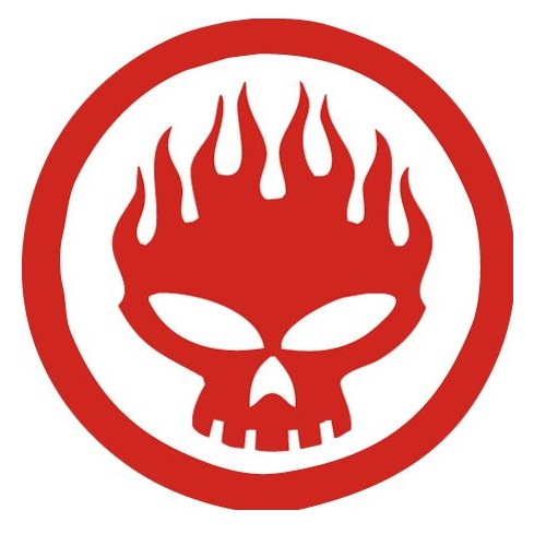 rock band stickers - The Offspring