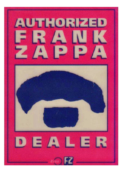 rock band stickers - frank zappa
