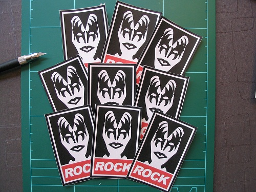 rock band stickers - KISS