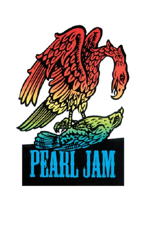 rock band stickers - pearl jam