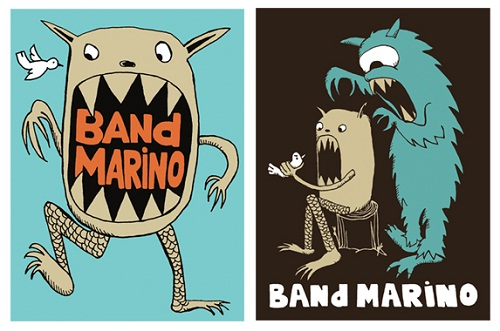 rock band stickers - band marino