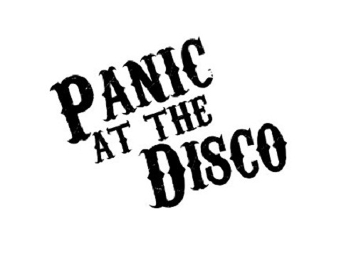 Rock band stickers panic at the disco
