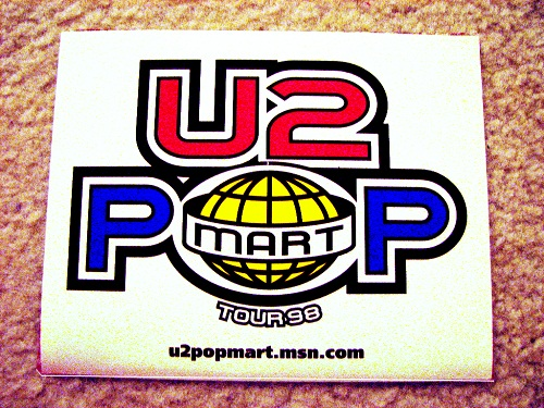 rock band stickers - U2