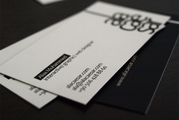 Sample Business Card Designs - Ala Caesar