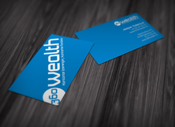 Sample Business Card Designs - 360 Wealth