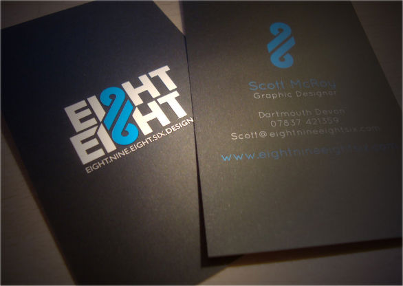 26 sample business card designs with awesome typography for Sample business card designs