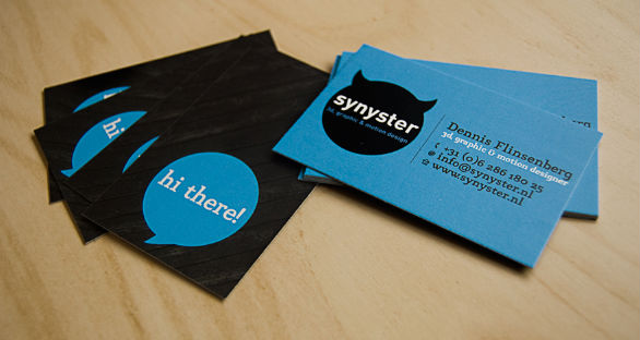 Sample Business Card Designs - Synyster