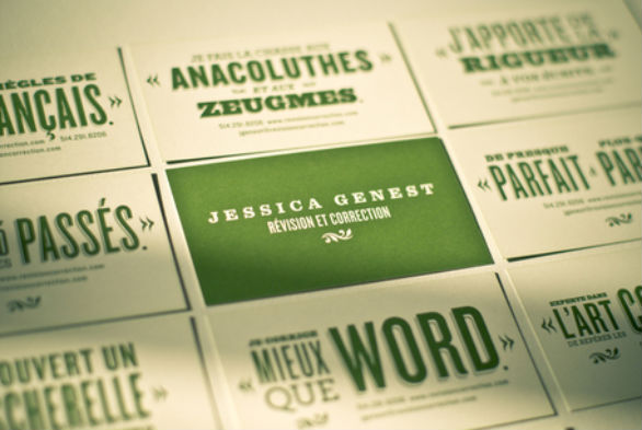 Sample Business Card Designs - Jessica Genest