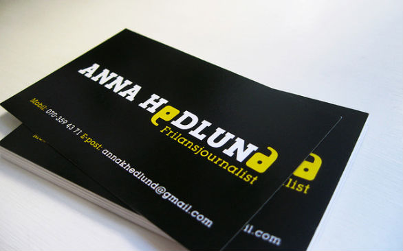 Sample Business Card Designs - Anna Hodlund