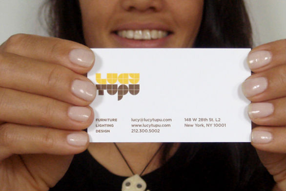 Sample Business Card Designs - Lucy Tupu