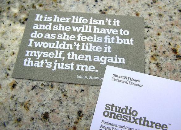 Sample Business Card Designs - Studio163
