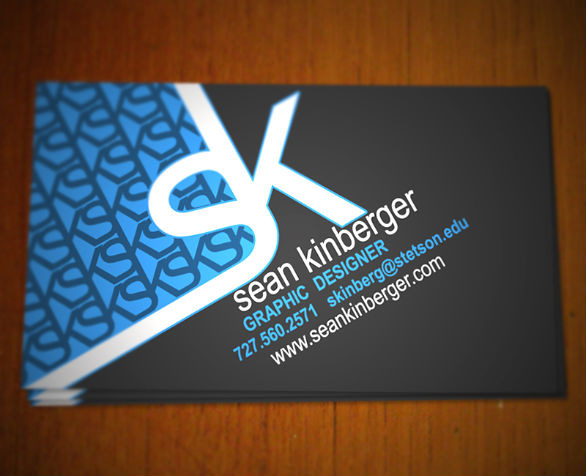 Sample Business Card Designs - Sean Kinberger
