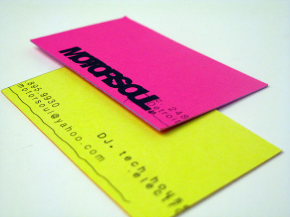 Sample Business Card Designs - DJ Motorsoul