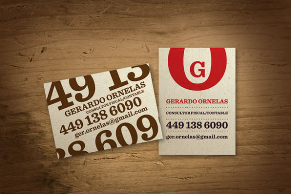 Sample Business Card Designs - Gerrardo Ornelas