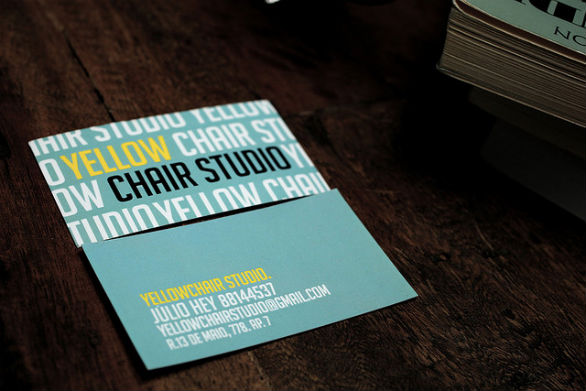 Sample Business Card Designs - Chair Studio