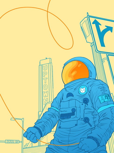 science fiction posters - astronaut