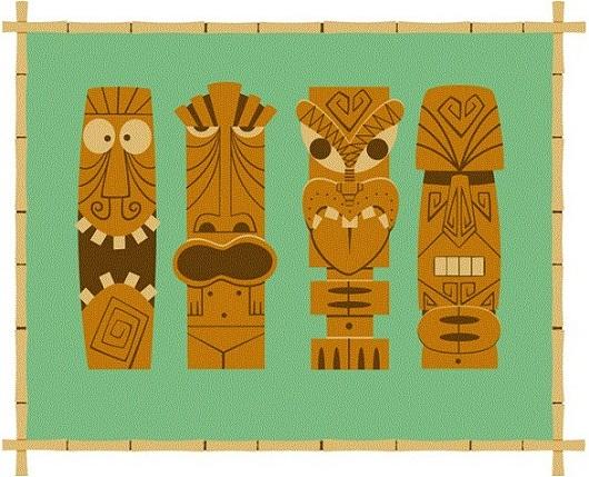 tiki art poster design inspiration - onno knuvers