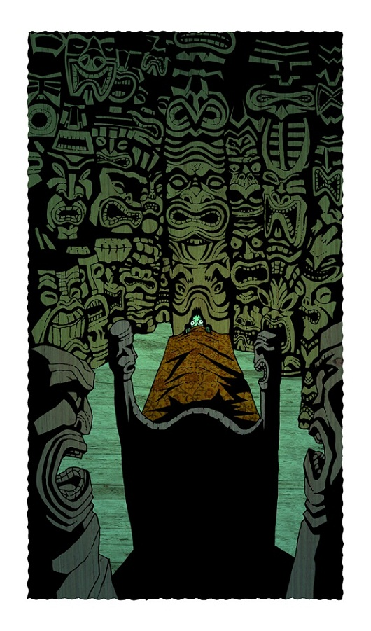 tiki art poster design inspiration - a night in the tiki room