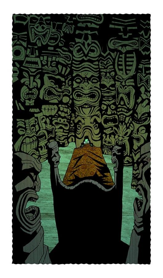 tiki art poster design inspiration - a night in the tiki room