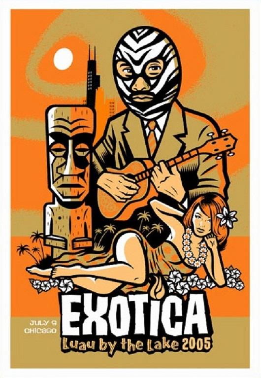 33 Tiki Art Poster Design Inspiration Samples for Your Den