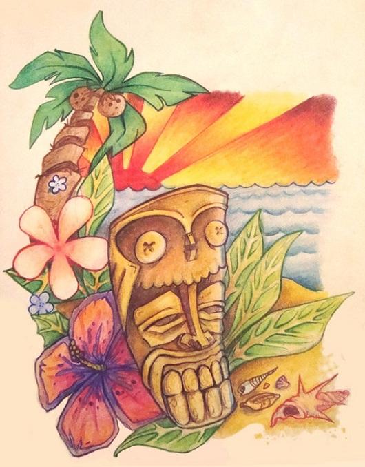 Tiki Art Poster Design Inspiration - The Tiki