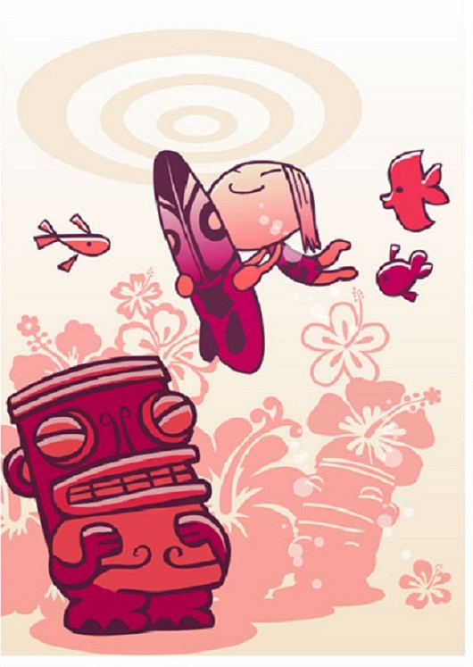 Tiki Art Poster Design Inspiration - Tiki Girl