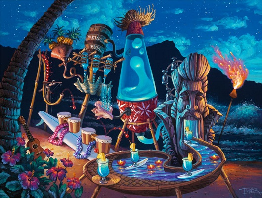 Tiki Art Poster Design Inspiration - BlueHawaiiShimmy