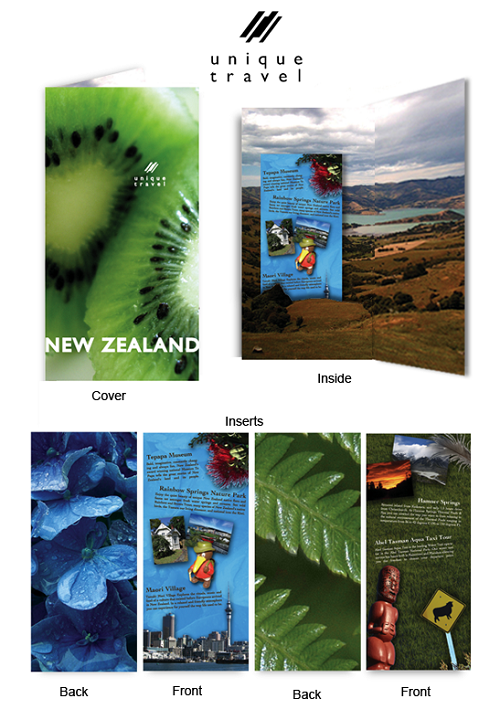 travel brochure examples - new zealand travel brochure