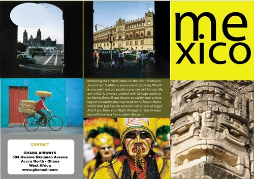 travel brochure examples - mexico travel brochure