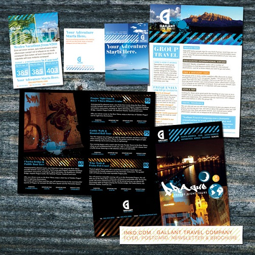 travel brochure examples - travel agency brochure