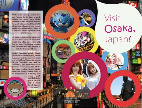 travel brochure examples - osaka, japan