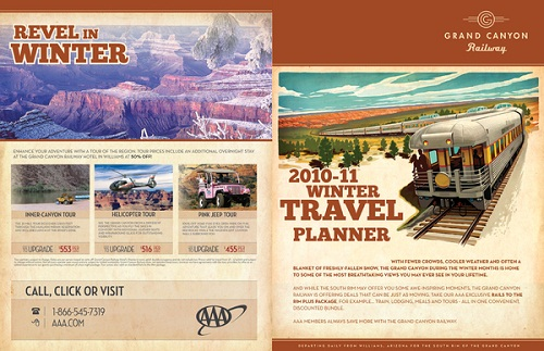 travel brochure examples - grand canyon railways
