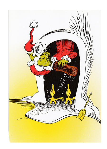 Dr. Seuss Art - The Grinch