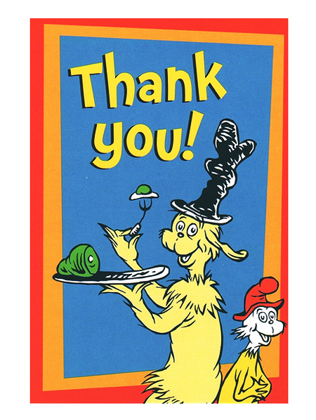 Dr. Seuss Art - Thank You Card