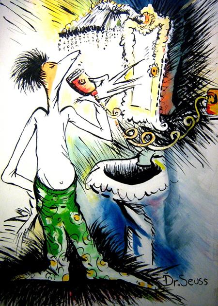 Dr. Seuss Art - Shave