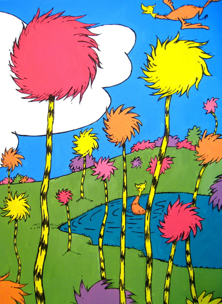 Dr. Seuss Art - trees