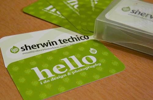 Marketing Business Card - Sherwin Techio