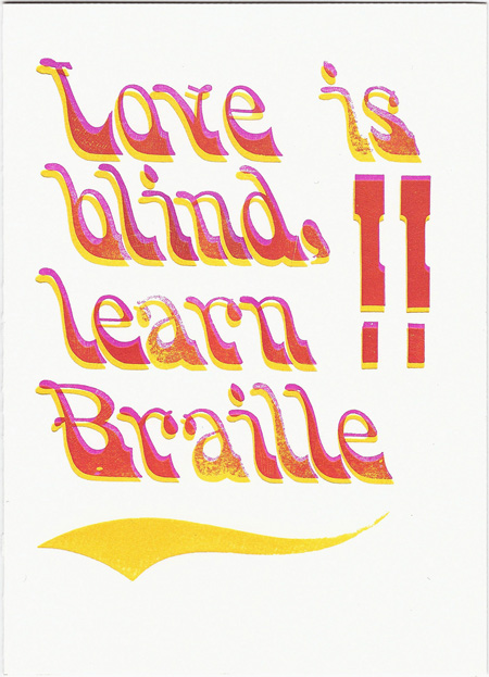 valentine's day card ideas - learn braille