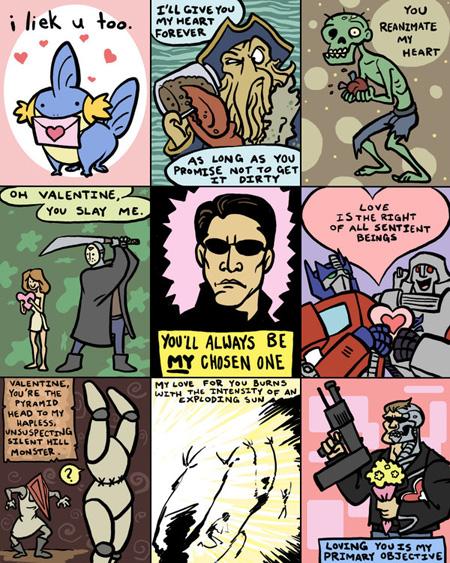 valentine's day card ideas - geeky valentines
