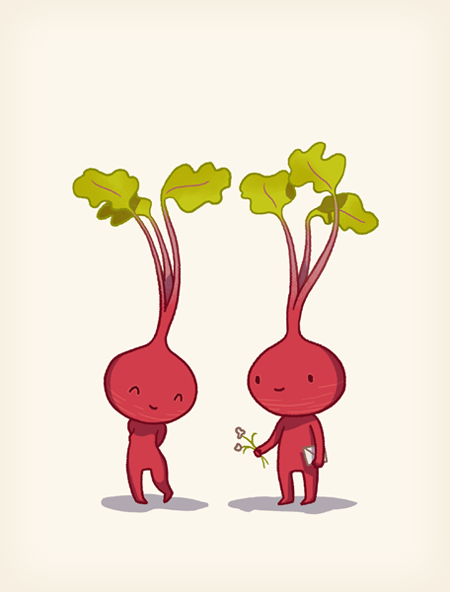 valentine's day card ideas - beetroots