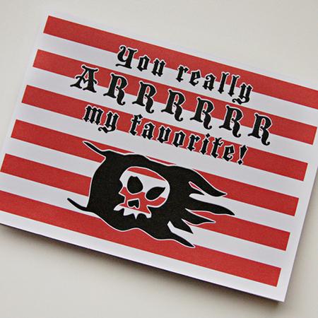 valentine's day card ideas - pirate valentine