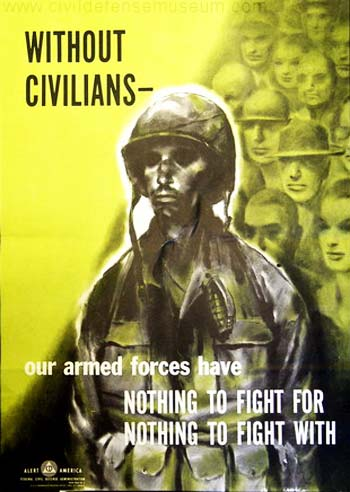 Vintage Home Front Posters - Without Civilians