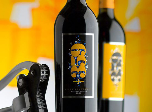 Jordan Jelev wine label designs